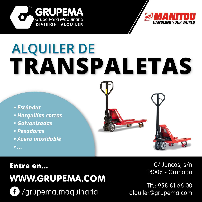 ALQUILER DE TRANSPALETAS manitou granada