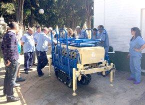 Entrega portaféretros a cementerio de algeciras, Grupema