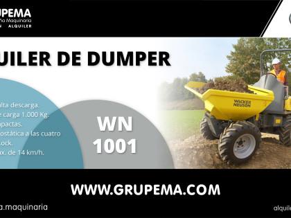 Alquiler de Dumper Wacker Neuson 1001 en Granada