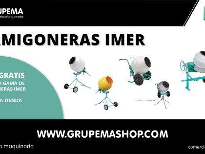 PROMOCIÓN – ¡TODOS LAS HORMIGONERAS CON EL ENVÍO GRATIS!