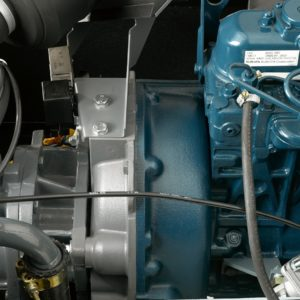 Engine close-up on a XAS 37 Kd mobile compressor. Up to 7bar (102psi), fitted with a Kubota D905 diesel engine.