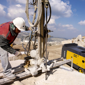 Application, liestone quarry, drilling down the hole