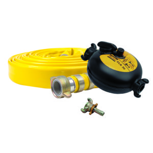 Pneumatic accessories; flat hose, lubricator, claw coupling