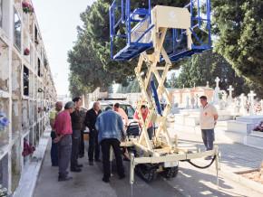 Entrega Plataforma Elevadora Portaféretros Oruga 2pt Interfront MTC