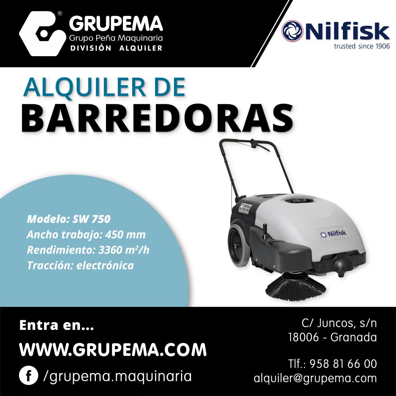 ALQUILER DE BARREDORAS NILFISK SW 750