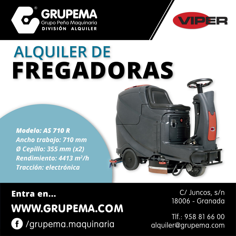 Alquiler Fregadora Automática Viper AS 710 R Granada y Jaén