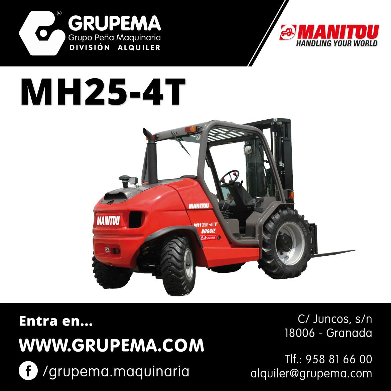 ALQUILER DE CARRETILLA ELEVADORA MANITOU MH25