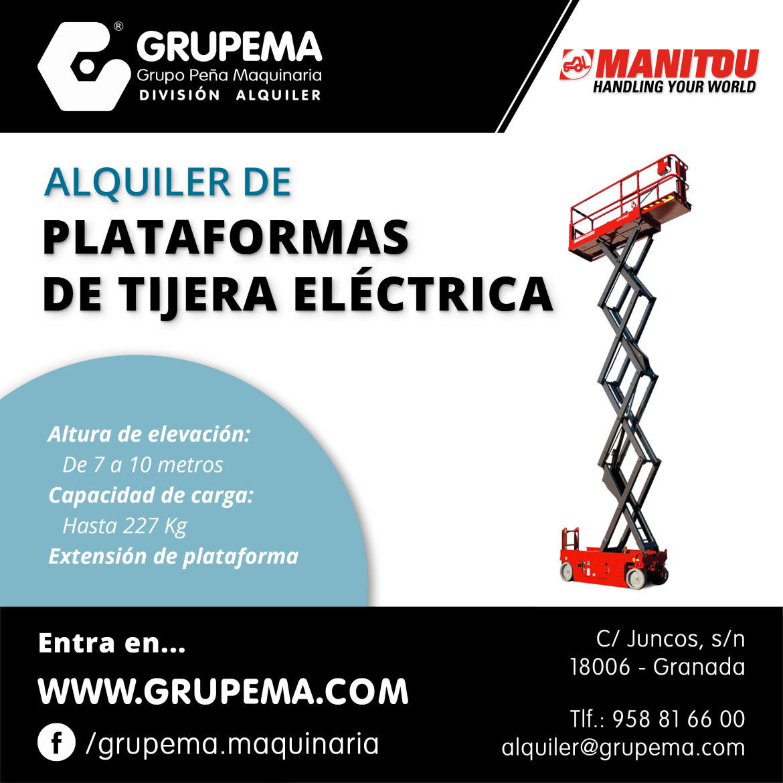 ALQUILER DE PLATAFORMAS DE TIJERA ELECTRICA