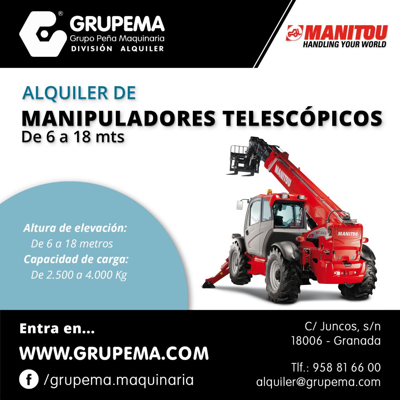 ALQUILER DE MANIPULADORES TELESCÓPICOS