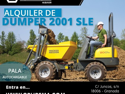 Alquiler de Dumper Wacker Neuson 2001 SLE en Granada