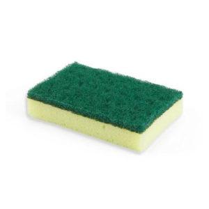 esponja y fibra verde fuerte, cisne