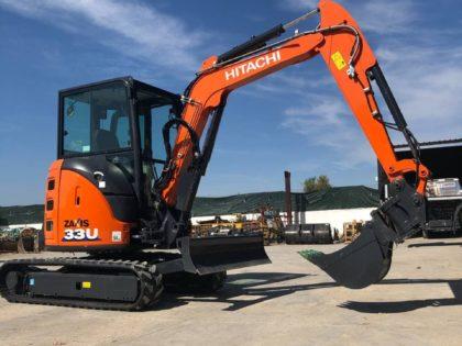 ¡Nueva Mini-Excavadora Hitachi ZX33U! Para ALQUILER en GRANADA.