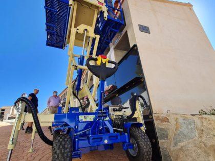 ENTREGA DE LA PLATAFORMA PORTAFÉRETROS MTC 2PT ECOLOGIC 4R EN VÉLEZ RUBIO (ALMERIA)