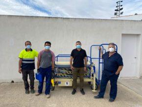 Entrega de plataforma portaféretros 1PT Manual Hodráulico MTC en Santa Eufemia (Córdoba) - Grupema